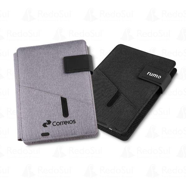 3194ca412 RD CAD220 - Caderno de Anotações Personalizado com Power bank ...